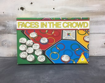 1987 Faces In the Crowd Game, Board Game, Made in Australia by PIATNIK