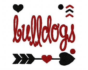 Bulldogs//Football // Machine Embroidery Design // Sports Embroidery Design // Mascot Embroidery Design //Embroidery Design//Joyful Stitches