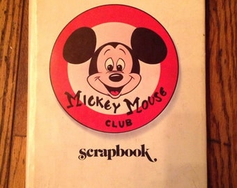 Vintage 1975 Mickey Mouse Club Scrapbook Book
