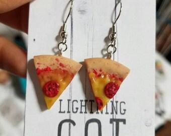 Pepperoni Pizza Earrings