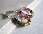 Custom Listing for a3366 Rainbow Tourmaline and Garnet Sterling Silver Earrings