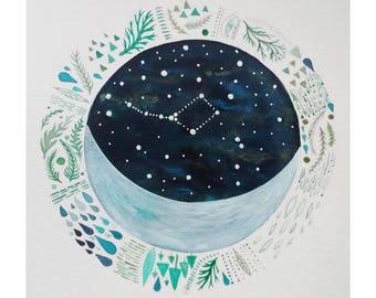Original Painting // Nursery Decor // Lunar Sanctuary