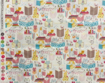 I Love to Read Alexander Henry fabric pastel FQ or more