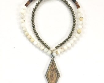 Beaded Buddhist Amulet Necklace