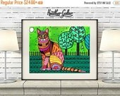 50% Off Today- Bengal Cat Art Poster Print of painting by Heather Galler (HG173)