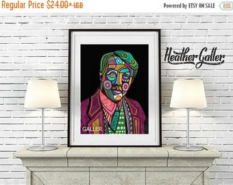 50% Off Today- Robert Frost Art Poster Print of Painting by Heather Galler Poet Poetry Gift