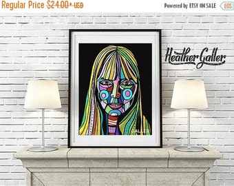 50% Off Today- Joni Mitchell Art  Art Print Poster by Heather Galler Musician Abstract (HG540)