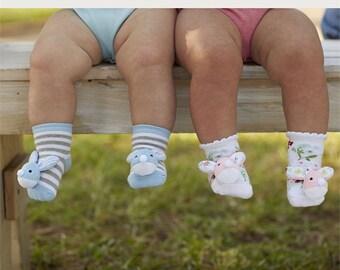 Bunny Rattle Socks, Baby Rattle Socks, Easter Socks, Boy Bunny Socks, Girl Bunny Socks