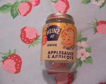 heinz 57 vintage baby food jar