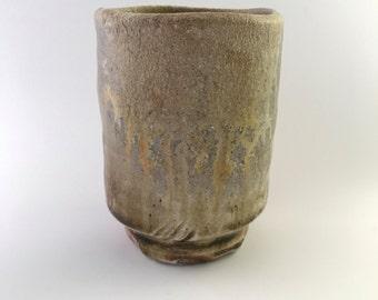 Dark Brown, Grey and Orange Teabowl (MCP162-3)