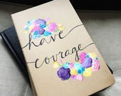 Hand Painted Moleskine Journal: RESERVED FOR BERTA