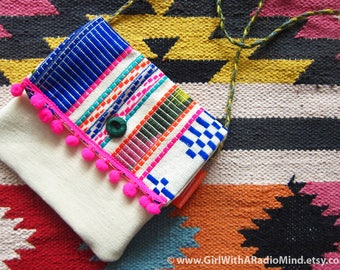 Mexican Crossbody Bag - Colorful Boho Shoulder Sling Bag - Gift for Her / Gift for Best Friend