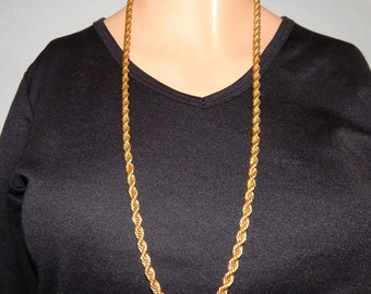 Vintage Napier Gold Chain Necklace