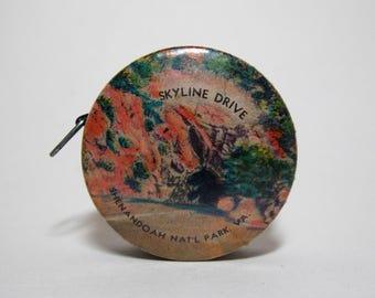 Sewing Tape Measure Souvenir Shanandoah National Park Virginia Skyline Drive Advertising