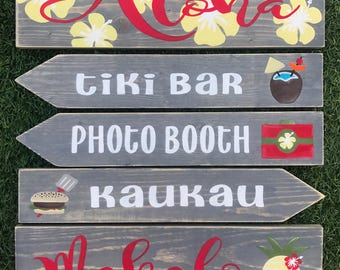 Made to order Party directional wood stake signs