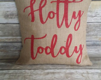Ole Miss Pillow, Hotty Toddy, Hotty Toddy Pillow, Ole Miss Pillow, Ole Miss, Ole Miss Rebels, Mississippi, burlap pillow, burlap mississippi