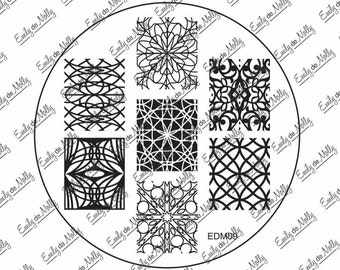 Nail stamping plate - EDM09