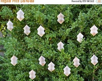 Christmas SALE Crystal small - folded Book Art hanging Ornament