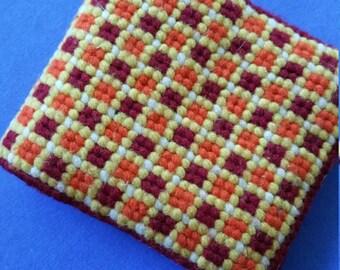 Cross Stitch Needle Holder handmade needlepoint