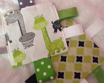 Giraffe Lime Green Baby Crinkle Toy