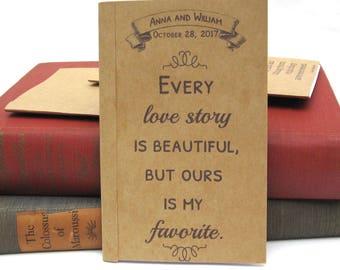 Personalized Favorite Love Story Kraft Paper Notebook / Journal / Sketchpad