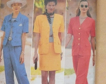 Butterick for J.H. Collectibles, Misses Casual Pant Suit, Skirt and Jacket Pattern 4007, Sizes 6, 8 and 10,  Uncut and Factory Folded