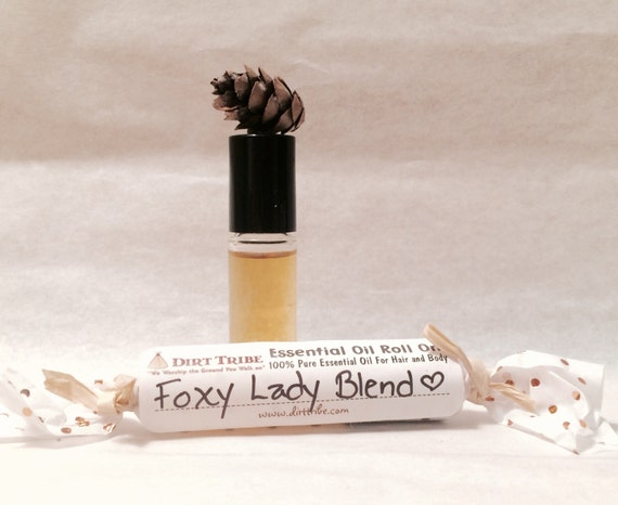 FOXY LADY BLEND - Silky Smooth Roll On-- Essential Oil Aromatherapy- Mini Bottle
