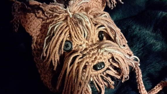 Crochet Yorkie hat