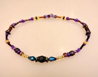 Glass Bead Anklet or Large Bracelet
