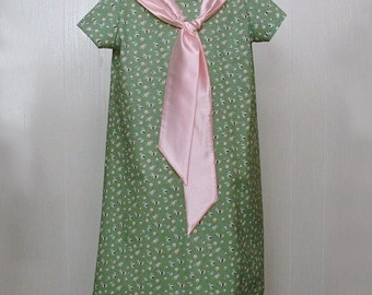 Girls Clothing,Girls Tie Dress, Girls School Dress ,Girls Portrait Dress, Girls Dress  Sizes 8  Ready to Ship,1960's, ooak