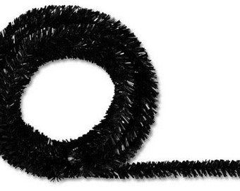 Black Metallic Tinsel Roping XG447802 (25 Feet)
