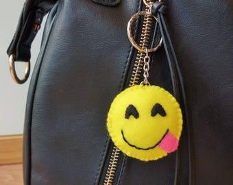 Emoji Keyring - Hungry Smile