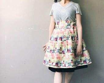 Vino: Wine Bottle Collage Skirt