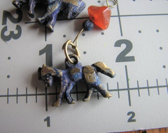 Brass charms  | animals | unique beads | stone chip | donkey | horse | tribal