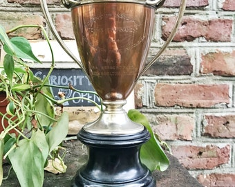 Antique 1904 Copper and Silver Plated Tennis Trophy