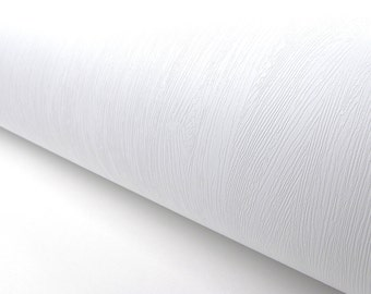 White Wood Pattern Texture Contact Paper Film Vinyl Self Adhesive Peel-stick Removable