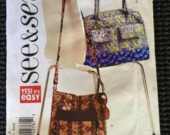 See & Sew B5312 Purse Handbag Bag Sewing Pattern UNCUT