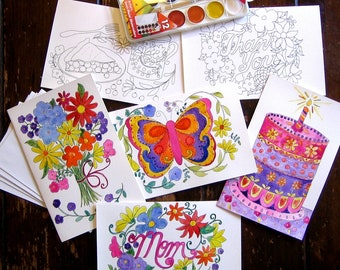 Watercolor Painting Kit Greeting Cards
