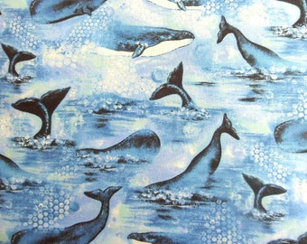 Whale Fabric Etsy