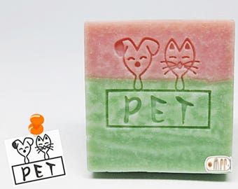 SoapRepublic PET Acrylic Soap Stamp / Cookie Stamp / Clay Stamp