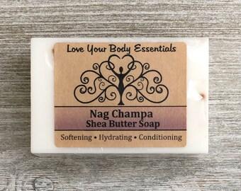 Nag Champa soap, Shea butter soap, vegan soap, soap bar, bar soap, handmade soap, meditation fragrance, nag champa scent