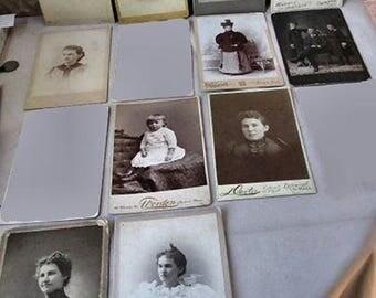 Lot of 11 Cabinet Cards - Massachusetts