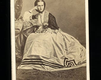 RESERVED Do Not Buy // Two 1860s Royalty CDVs