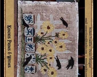 Crocks, Crows, N Black Eyed Susan's -Cross Stitch Pattern- Instant Download