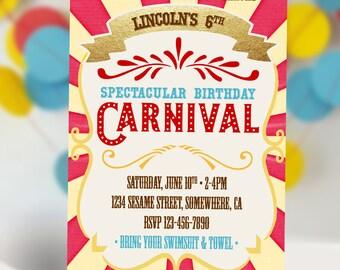Carnival Birthday Invitation DIY