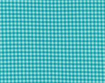 "Broadcloth-45""-Rain/Turquoise Check"
