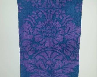 Vintage St. Marys Mod Purple Blue Hand Towel