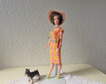 HTF Bonnie Clone Doll by Elite Creations. 1960s. Wearing a handmade ensemble by ETSY GalleryofCrafts