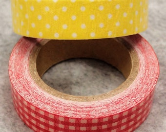 Assorted Self Adhesive Fabric Cloth Ribbon - 13ft/roll