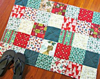 Christmas Rug, Bathroom Rug, Christmas Bath Mat, Shower Mat, Laundry Room Rug, Nursery Rug, Christmas Decor, Kitchen Rug